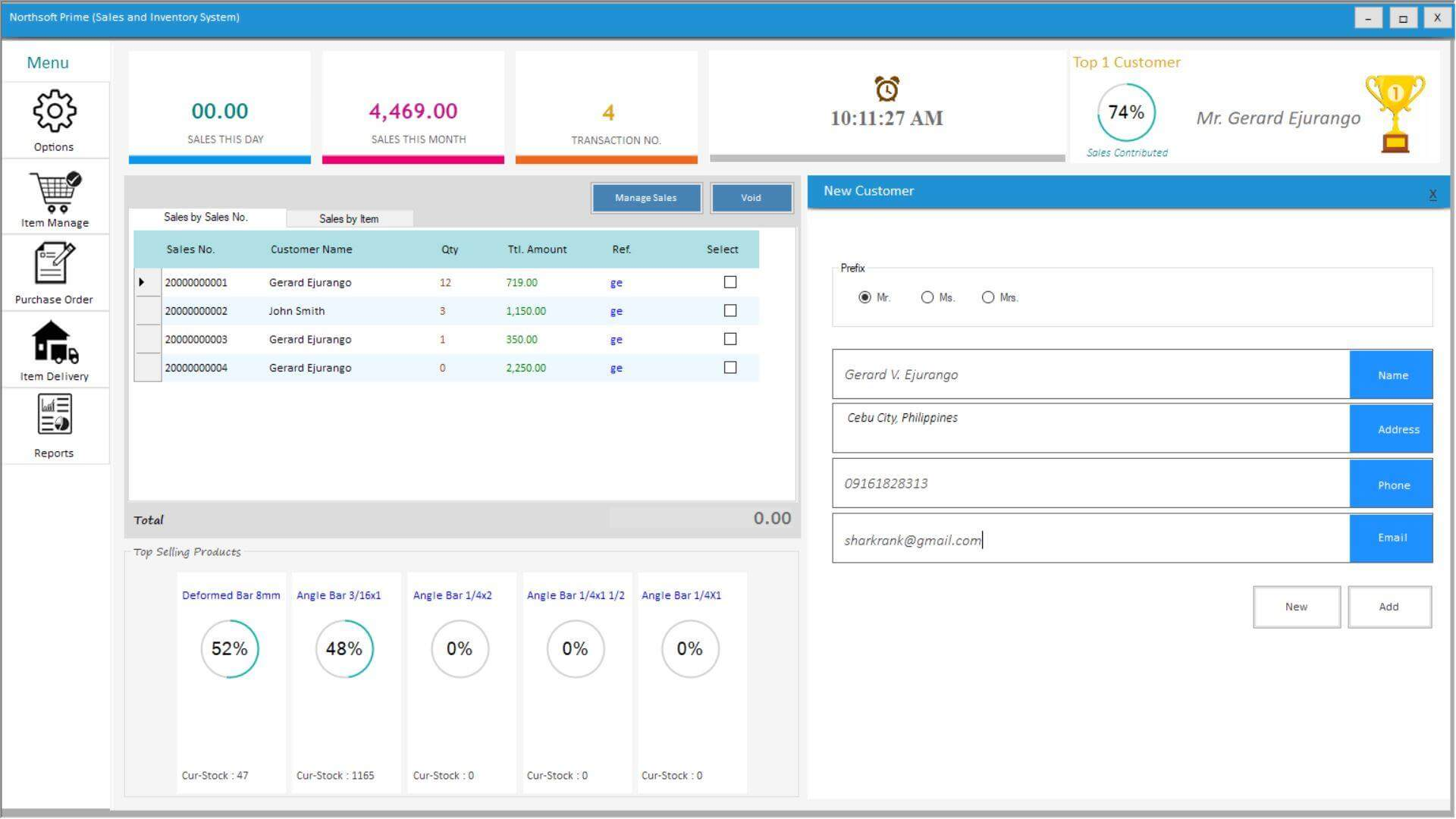 Sales and Inventory System in VB.Net Customer Management