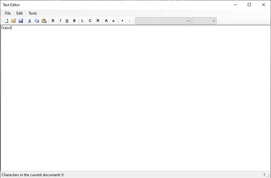 Basic Text Editor Form Design in VB.Net Final Output
