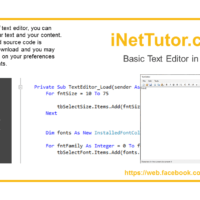 Basic Text Editor in VB.Net Tutorial and Source code