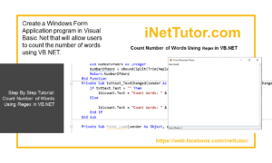 Count Number of Words Using Regex in VB.NET - Tutorial and Source code