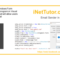 Email Sender Code in VB.NET Tutorial and Source code