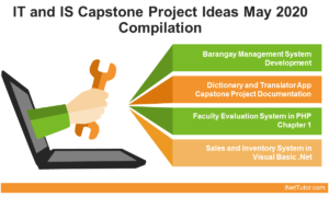 IT and IS Capstone Project Ideas June 2020 Compilation