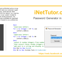 Password Generator in VB.NET