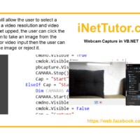 Webcam Capture in VB.NET Source code and Tutorial