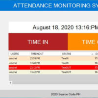 Attendance System in VB.Net and SQL Server - TimeIn TimeOut Form