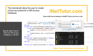 Back-Up MS Access Database in VB.NET Tutorial and Source code