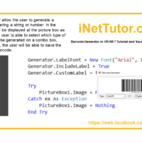 Barcode Generator in VB.NET Tutorial and Source code