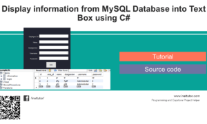 Display information from MySQL Database into Text Box using C#