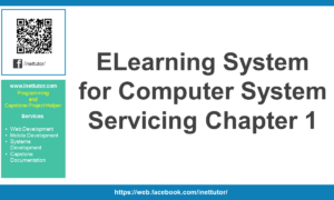 ELearning System for Computer System Servicing Chapter 1