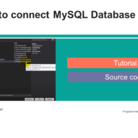 How to connect MySQL Database to C# Tutorial and Source code