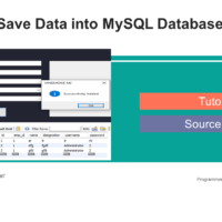 Insert or Save Data into MySQL Database using C# Tutorial and Source code