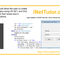 Login System in VB.NET and SQL Server Tutorial and Source code