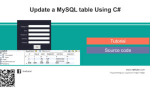 Update a MySQL table Using C# Tutorial and Source code