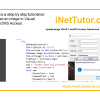 Upload Image VB.NET and MS Access Tutorial and Source code