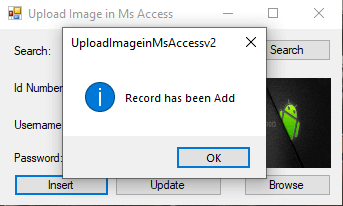 Upload Image VB.NET and MS Access Tutorial and Source code - Step 10