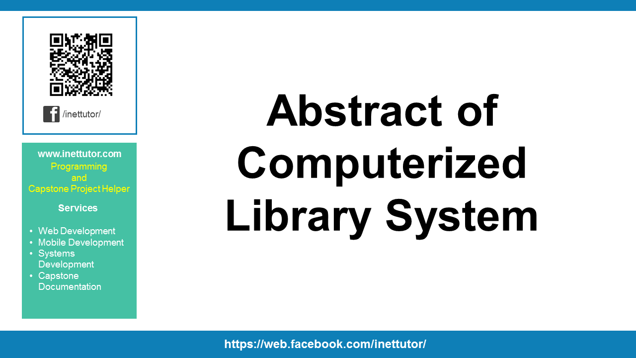 Abstract of Computerized Library System