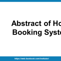 Abstract of Hotel Booking System