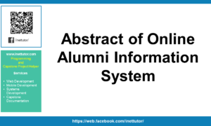 Abstract of Online Alumni Information System