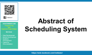 Abstract of Scheduling System