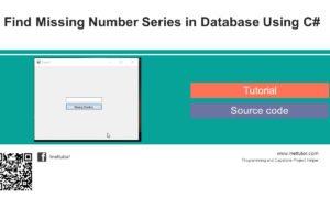 Find Missing Number Series in Database Using C#