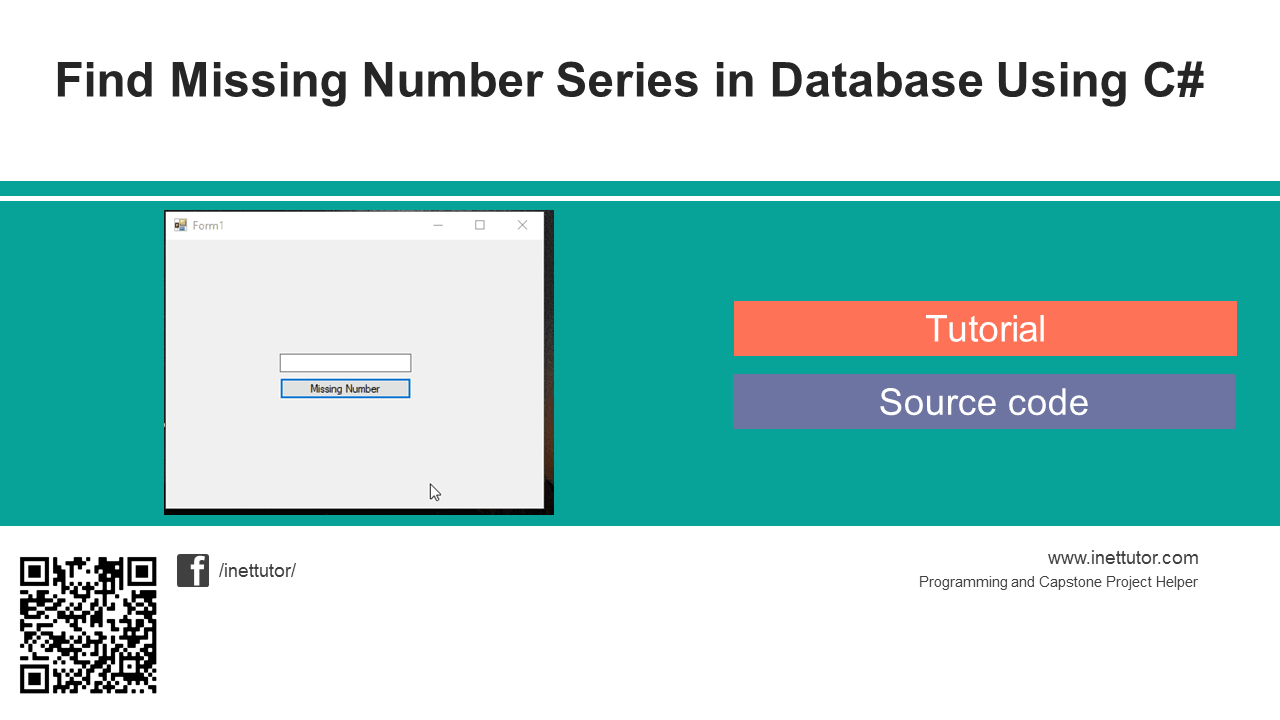 Find Missing Number Series In Database Using C