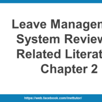 Leave Management System Review of Related Literature Chapter 2