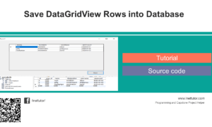 Save DataGridView Rows into Database