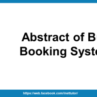 Abstract of Bus Booking System
