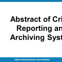 Abstract of Crime Reporting and Archiving System