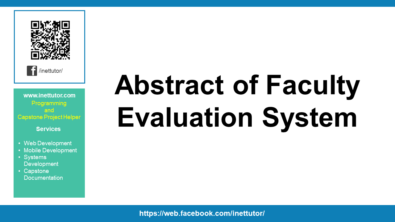 Abstract of Faculty Evaluation System