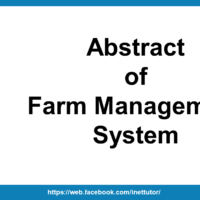 Abstract of Farm Management System