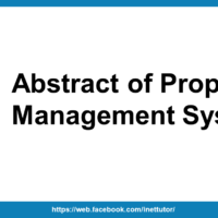 Abstract of Property Management System