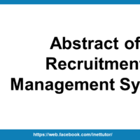 Abstract of Recruitment Management System