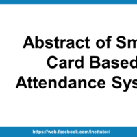 Abstract of Smart Card Based Attendance System