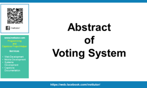 Abstract of Voting System