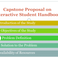 Capstone Proposal on Interactive Student Handbook