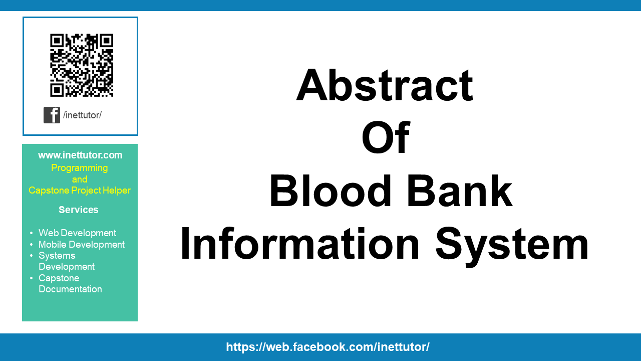 Abstract of Blood Bank Information System