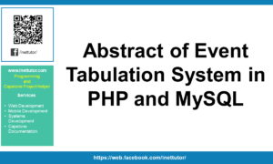 Abstract of Event Tabulation System in PHP and MySQL
