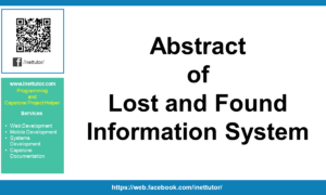 Abstract of Lost and Found Information System