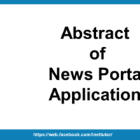 Abstract of News Portal Application