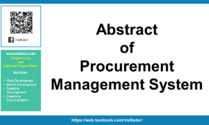 Abstract of Procurement Management System