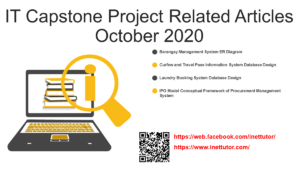 IT Capstone Project Related Articles October 2020