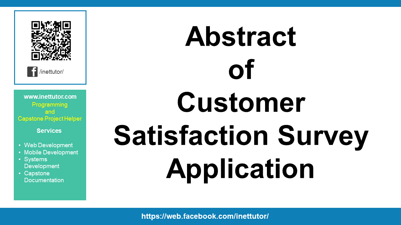 Abstract of Customer Satisfaction Survey Application