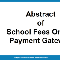 Abstract of School Fees Online Payment Gateway
