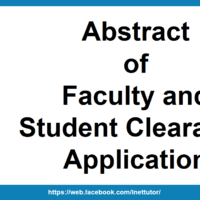 Abstract of Faculty and Student Clearance Application