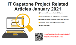 IT Capstone Project Related Articles January 2021