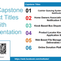 List of Capstone Project Titles with Documentation - Ads