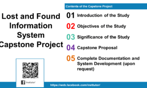 Lost and Found Information System Capstone Project