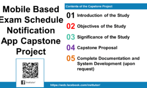 Mobile Based Exam Schedule Notification App Capstone Project