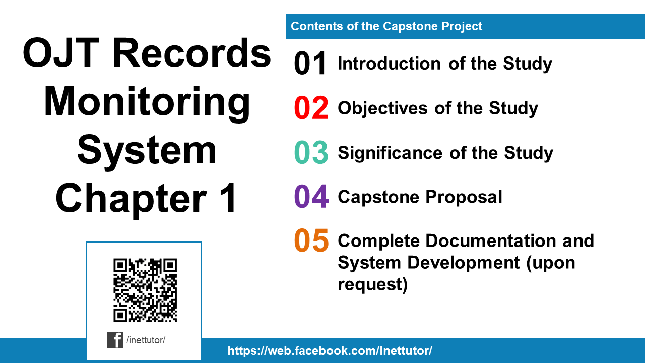 OJT Records Monitoring System Chapter 1